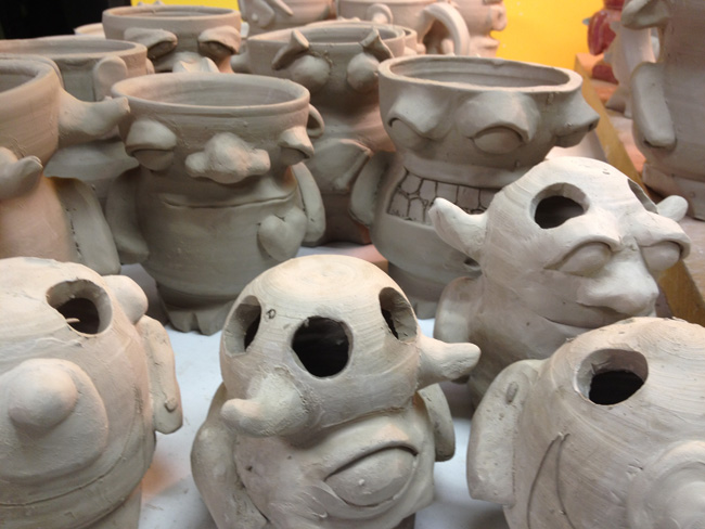 making monsters out of clay