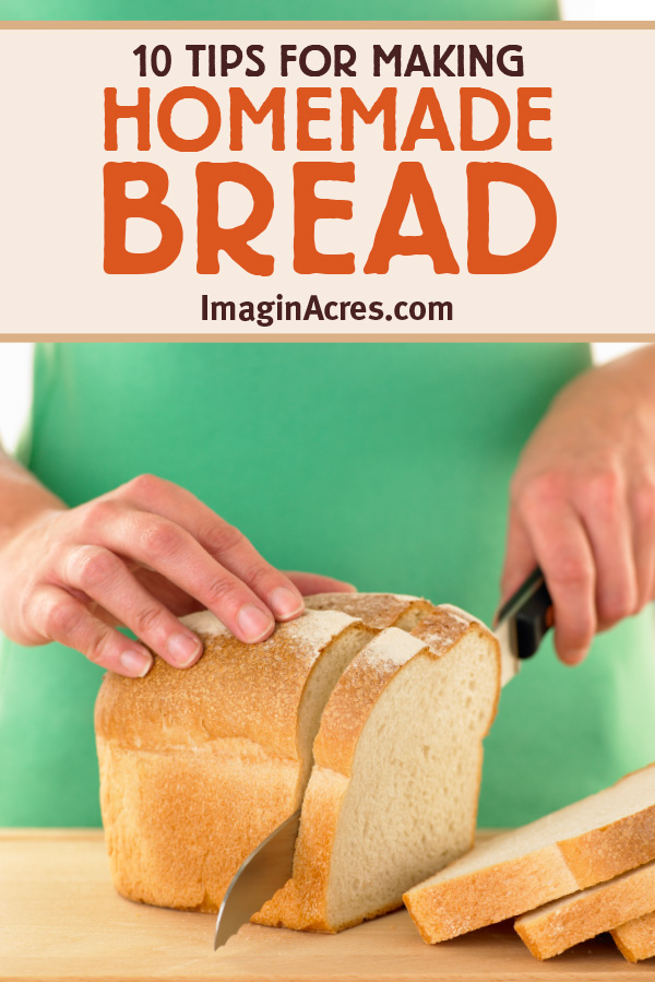 Does the idea of baking bread at home intimidate you? It doesn't have to be difficult! With these 10 bread-making tips for ingredients, preparation, and baking you'll be whipping up fresh homemade loaves in no time.