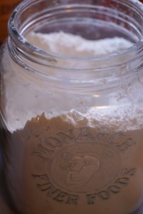 flour in jar