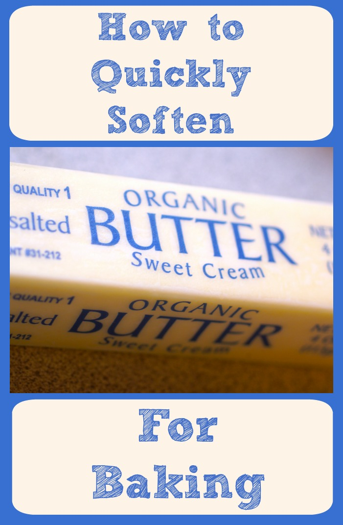 Do you ever get halfway through a baking recipe and THEN realize you need softened butter to complete it? We do too. Luckily we found a way to quickly soften butter for just these occasions!
