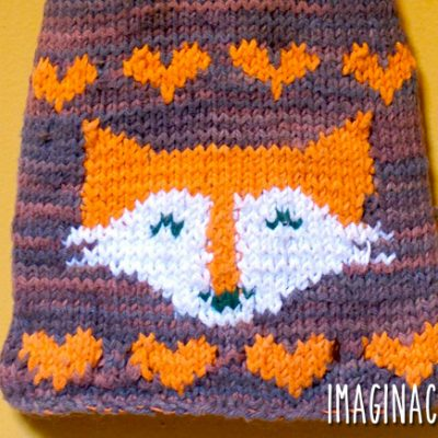 Fox Tea Towel Knitting Pattern