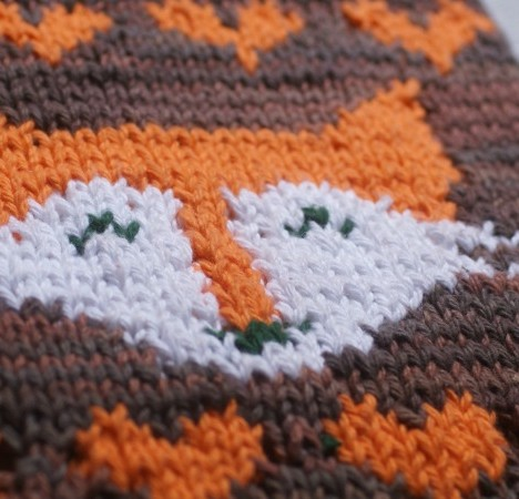 Foxy Tea Towel Knitting Pattern