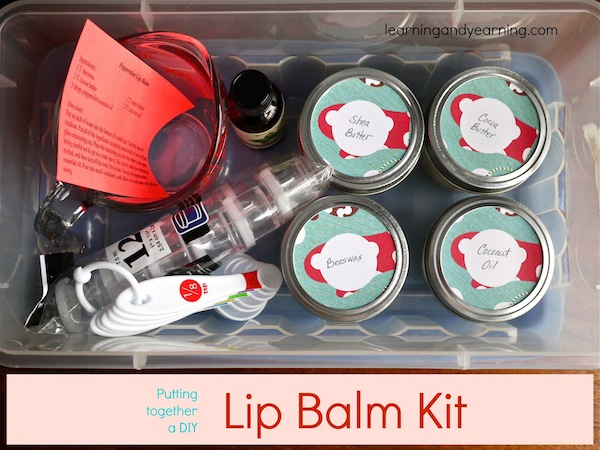 DIY Lip Balm Kit for handmade holidays | Learning and Yearning