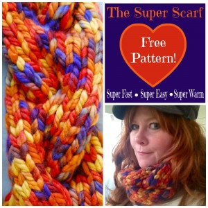 Super Scarf Pattern. Super fast, super easy, super warm. | ImaginAcres