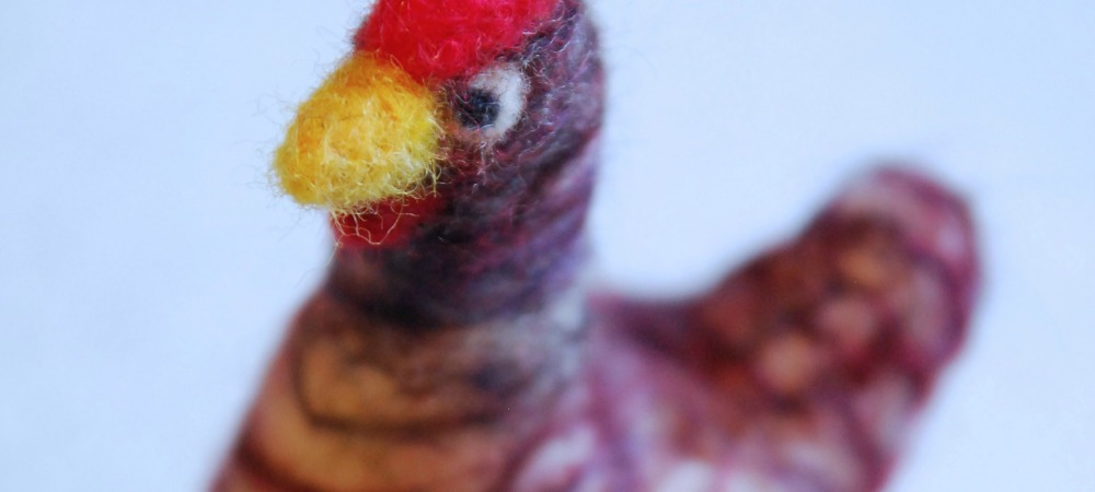Needle Felting a Chicken: The Dee Dee Effigy