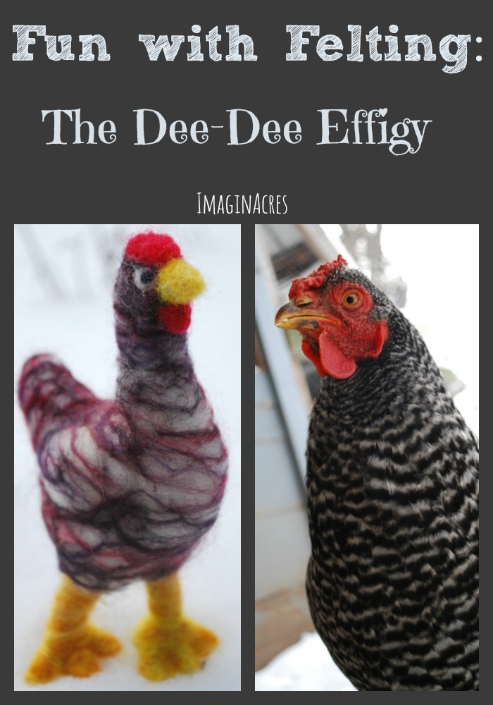 When I picked up needle felting again, I just knew I had to create my favorite chicken, Dee Dee.