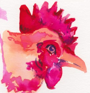 Fun with Watercolor: Chicken Portraits from our flock