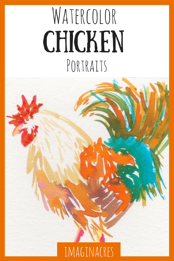 My love of art and my love of chickens combined to create these watercolor chicken paintings!