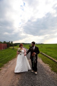 Our farm wedding was everything we dreamed it would be... beautiful setting, amazing flowers, and of course goats!