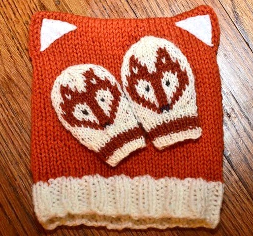 Adorable Baby Fox Hat And Matching Mittens Knitting Pattern
