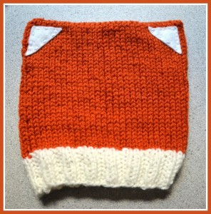What could be more cute for your little one this season than a foxy hat and matching mittens?