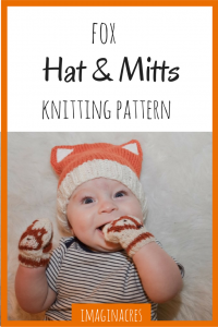 This fox hat and mittens knitting pattern is all you need to make the most adorable gift for your favorite babe!
