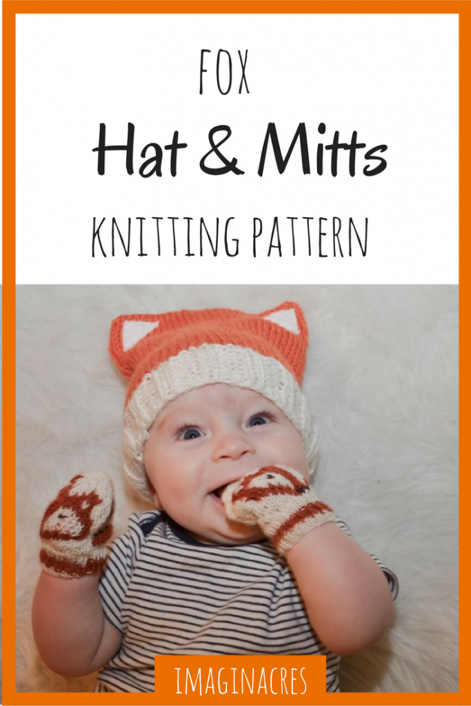 This fox hat and mittens knitting pattern is all you need to make the most  adorable 09d24b309bb