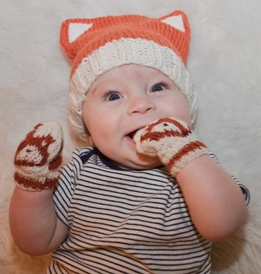 Baby Fox Hat and Mittens