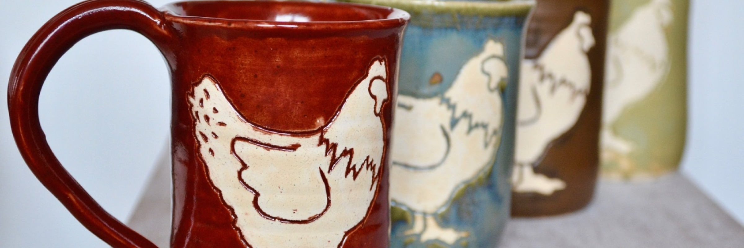 These adorable chicken mugs come in a variety of colors, hold 16 ounces, and have a surprise nest in the bottom!