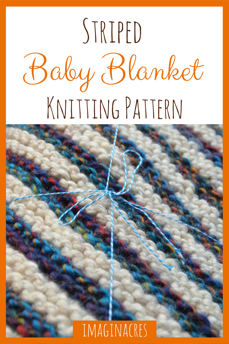 Striped Baby Blanket Knitting Pattern - ImaginAcres