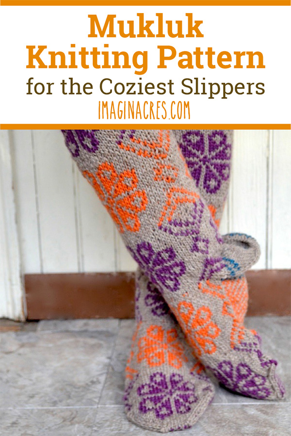 Mukluk Slipper Socks Knitting Pattern: With this pattern, you'll get everything you need to know to knit your own pair of mukluks! Visit for this mukluk slippers knitting pattern.