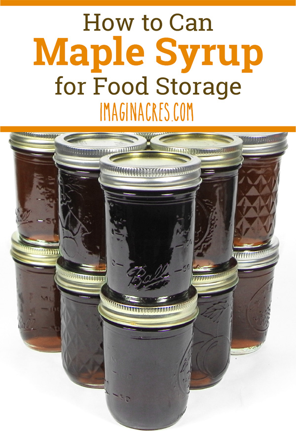 If you are making maple syrup anyway, the process of hot packing and canning maple syrup is just another step that will take you less than a half hour of hands on time.