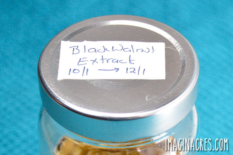 cover of the jar with a lable